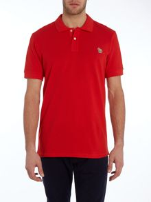 Regular fit zebra logo polo shirt