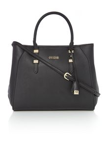 Gigi black tote crossbody bag