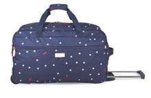 Radley Cheshire street navy 2 wheel soft duffle trolley