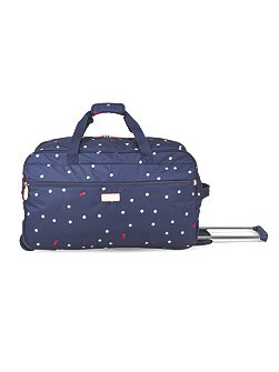 Cheshire street navy 2 wheel soft duffle trolley