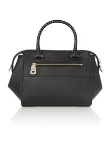 Hailey black small tote crossbody bag