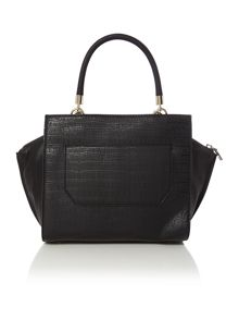 Casey black winged tote bag