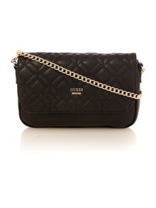 Guess Ines black convertible crossbody bag
