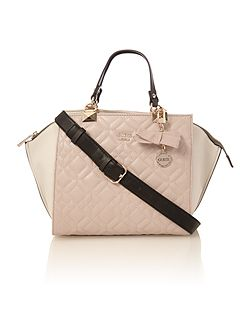 Ines multi quilted tote crossbody bag