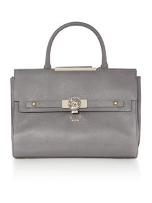 Guess Cynthia grey tote crossbody bag