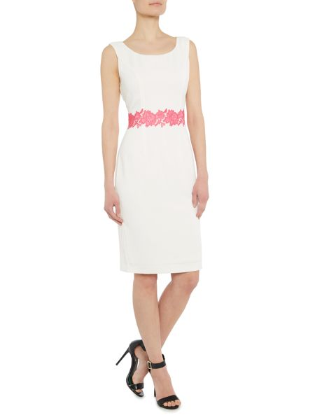 Shubette Crepe dress with guipure trim