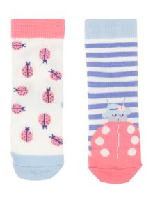 Joules Girls Lady bird socks