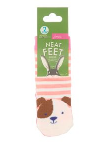 Girls Sheep and Dog socks