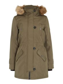 Vero Moda Long Parka with Fur Trim