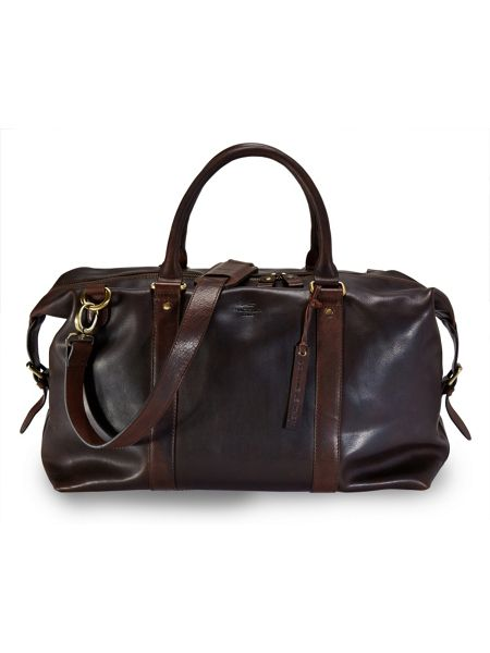 Paul Costelloe Brown leather holdall