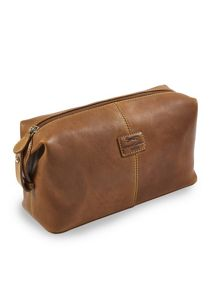 Brown wash bag