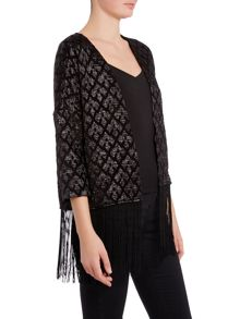 Vero Moda 3/4 Sleeve Frill Tassled Jacket