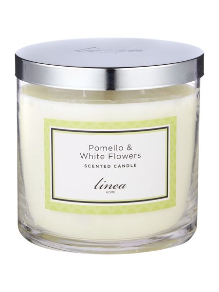 Linea Pomello & White Flowers 3 Wick Candle
