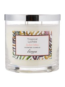 Linea Tropical Lychee 3 Wick Scented Candle