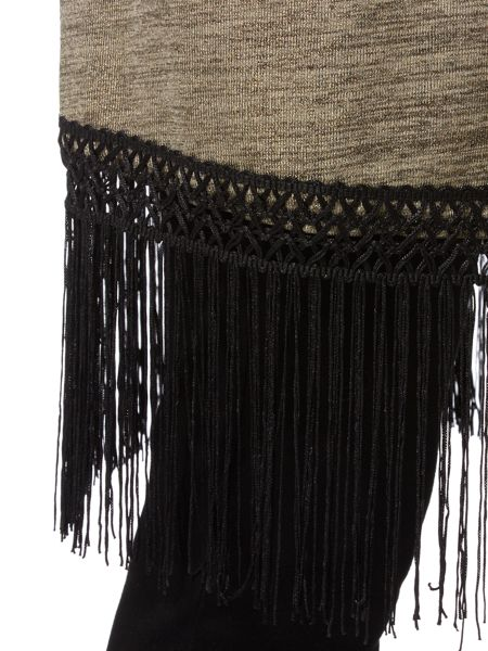 Biba Throw on metallic fringed cardigan