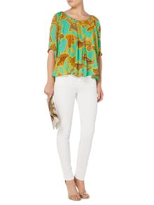 Biba Printed loose volume blouse