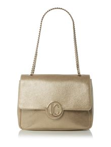Just Cavalli Gold shoulder bag