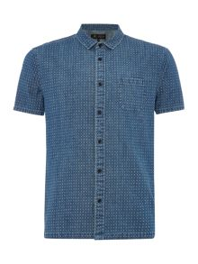 Label Lab Lever Printed Denim Shirt