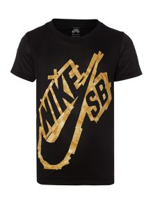 Nike Boys Dry-Fit Tape Logo T-shirt