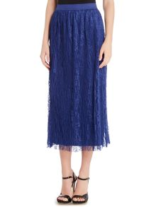 Vero Moda High Waisted Netted Lace Maxi Skirt