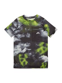 Nike Boys Dry-Fit Printed Refective Trim T-shirt