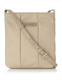 Tommy Hilfiger Poppy grey flat crossbody bag