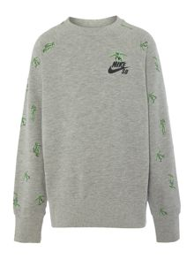 Nike Boys Skater Print Crew Neck Sweater