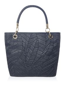 Tommy Hilfiger Raffia navy sigature tote bag