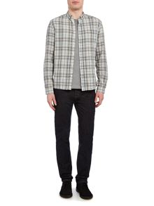 Label Lab Pheonix Plaid Check Heavy Wash Long Sleeve Shirt