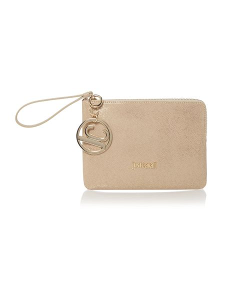 Just Cavalli Gold mini pouchette