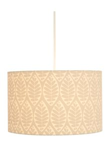 Dickins & Jones Tessa Grey Leaf Printed Shade