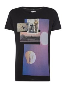 Jack & Jones Star Wars Moon Graphic Crew Neck T-shirt