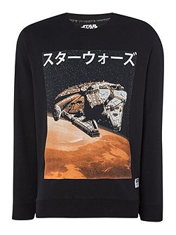 Star Wars Graphic Crew Neck Sweatshirt