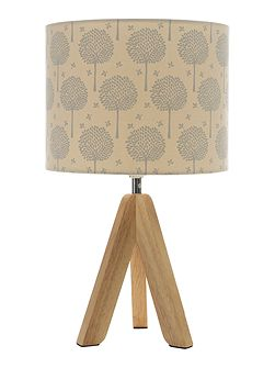 Corina Tripod Lamp with Tree Printed Shade