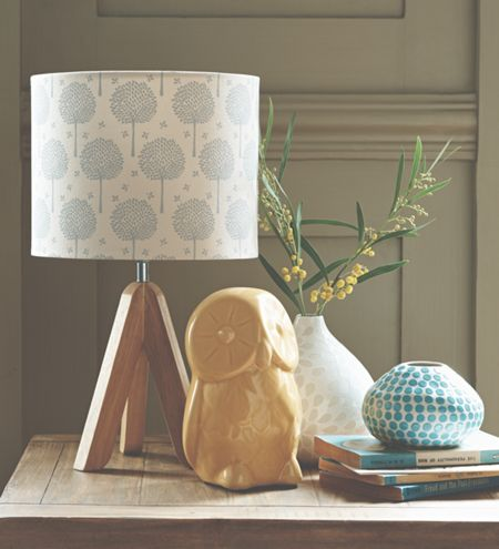 Dickins & Jones Corina Tripod Lamp with Tree Printed Shade