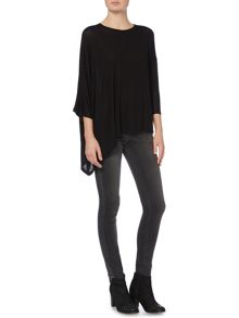 Label Lab Asymmetric Boxy Lightweight Knit