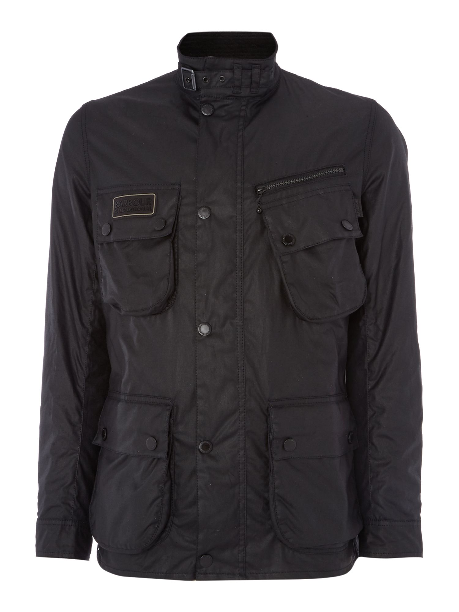Mens Barbour International wax jacket Black