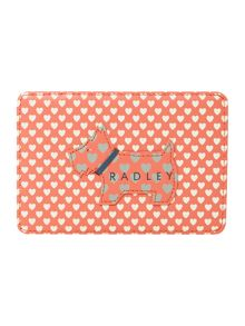 Love radley coral travel card holder