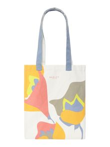 Botanical multi coloured medium tote bag