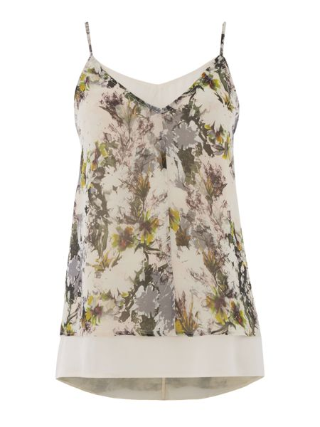 Gray & Willow Alitha floral double lyer cami