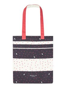 Radley Cheshire street navy medium tote bag