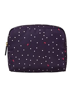 Cheshire street navy large zip cosmetic case