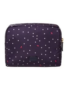 Radley Cheshire street navy large zip cosmetic case