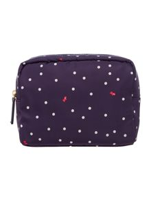 Radley Cheshire street navy medium cosmetic case
