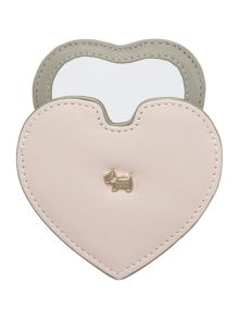 Radley Blair pink heart mirror
