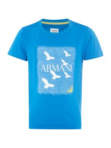 Armani Junior Boys Logo Eagle T-shirt