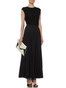 Linea Pleated maxi skirt