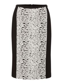 Episode Pencil skirt with boucle panel