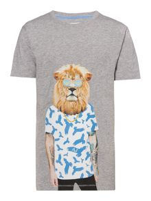 Armani Junior Boys Dog Graphic T-shirt