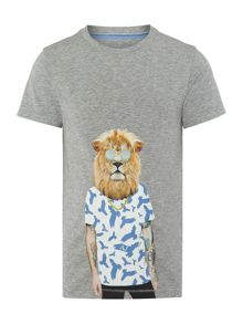 Armani Junior Boys Lion Graphic T-shirt